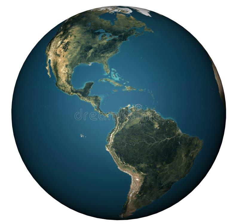 WORLD GLOBE. World illustration  America