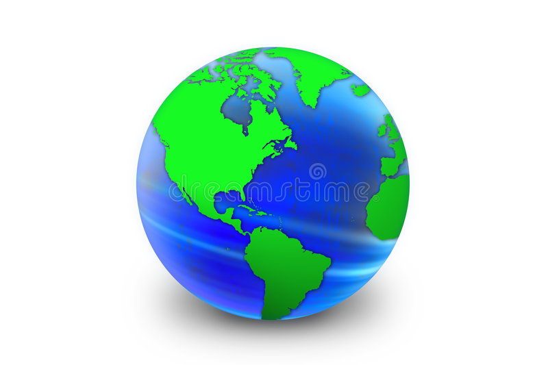 World globe royalty free illustration