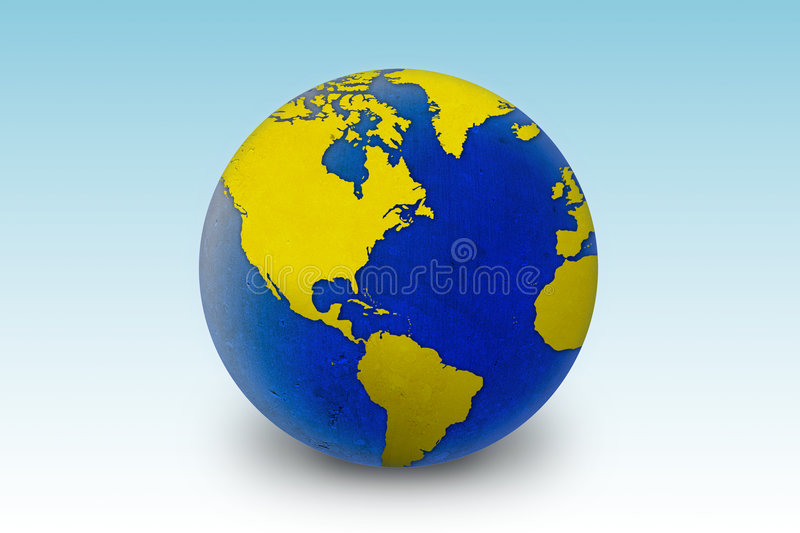 Download World globe stock illustration. Image of asia, oceans - 1422071