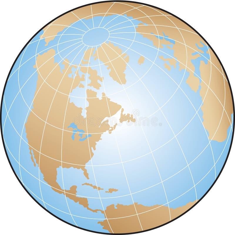 Download World Globe stock vector. Image of ocean, earth, america - 21010144