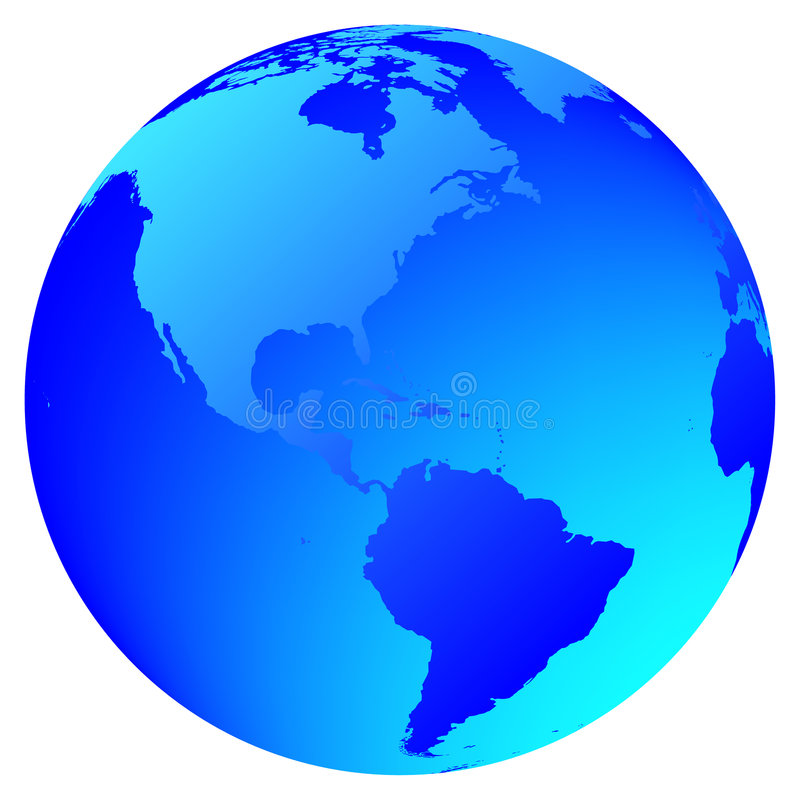 World Globe stock illustration