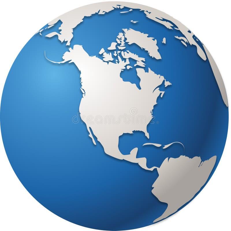World globe. Isolated in vectors North America