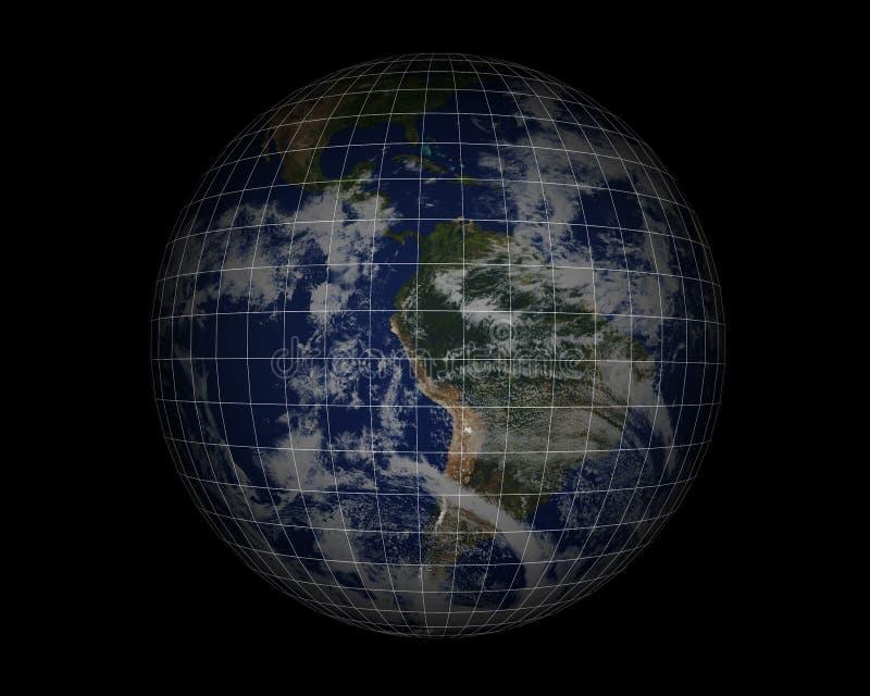 World Globe on black006 vector illustration
