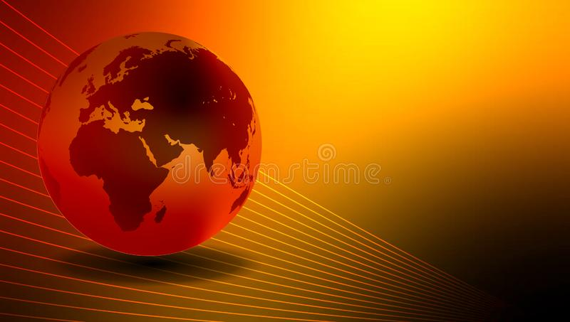 World globe bright background. vector illustration. An abstract world map background with a globe feel and all the continents. many uses for banner, background stock illustration