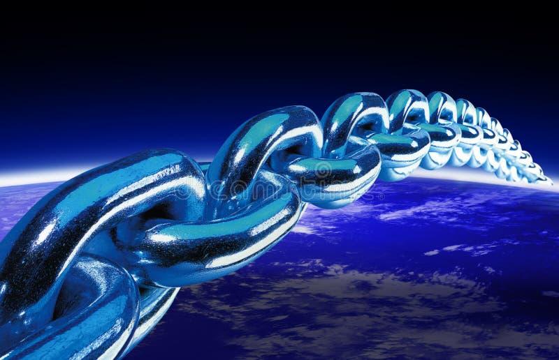 World globe and chain 2