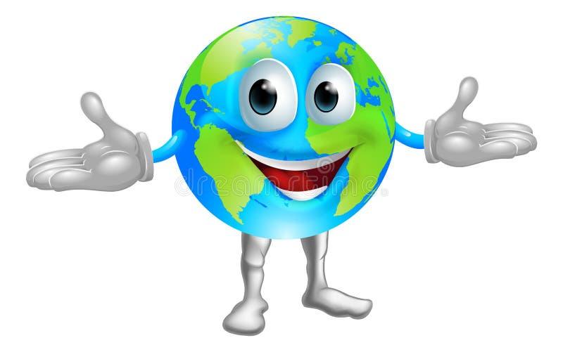 World globe character vector illustration