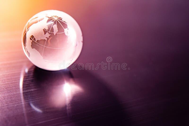 World globe crystal glass. Global business stock photography