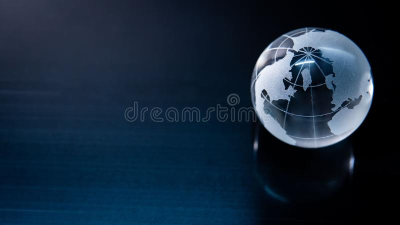 World globe crystal glass. Global business stock images