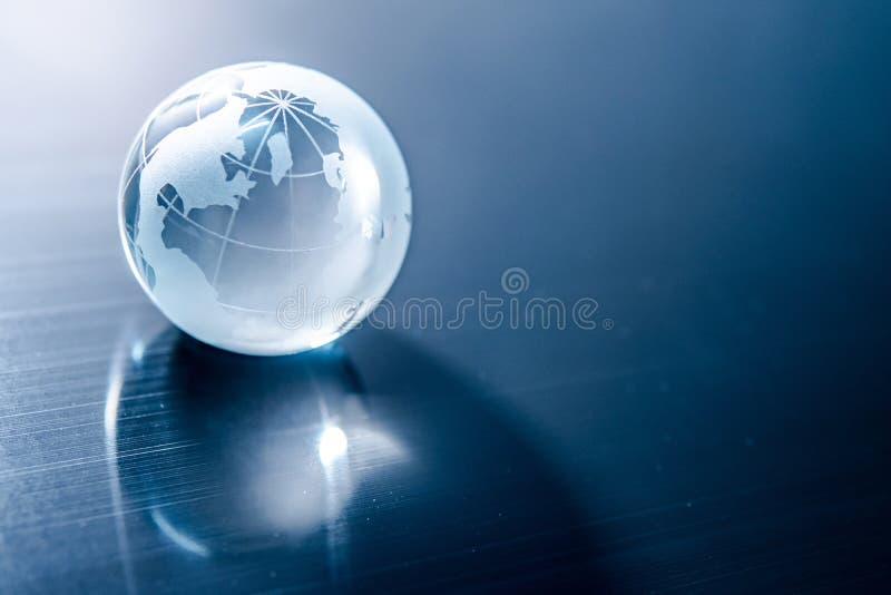 World globe cystal glass. Global business stock photo