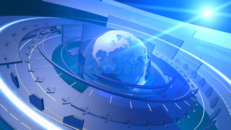 World Globe Digital Network Connection Background stock image