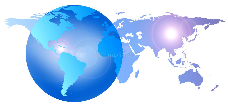 Download World globe earth stock illustration. Illustration of pacific - 3552500