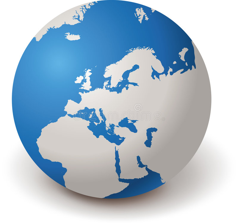Download WORLD GLOBE EUROPE 3d stock vector. Illustration of ball - 7426457