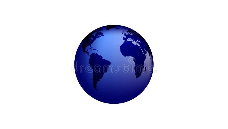 World Globe isolated on white Background. vector illustration. royalty free illustration