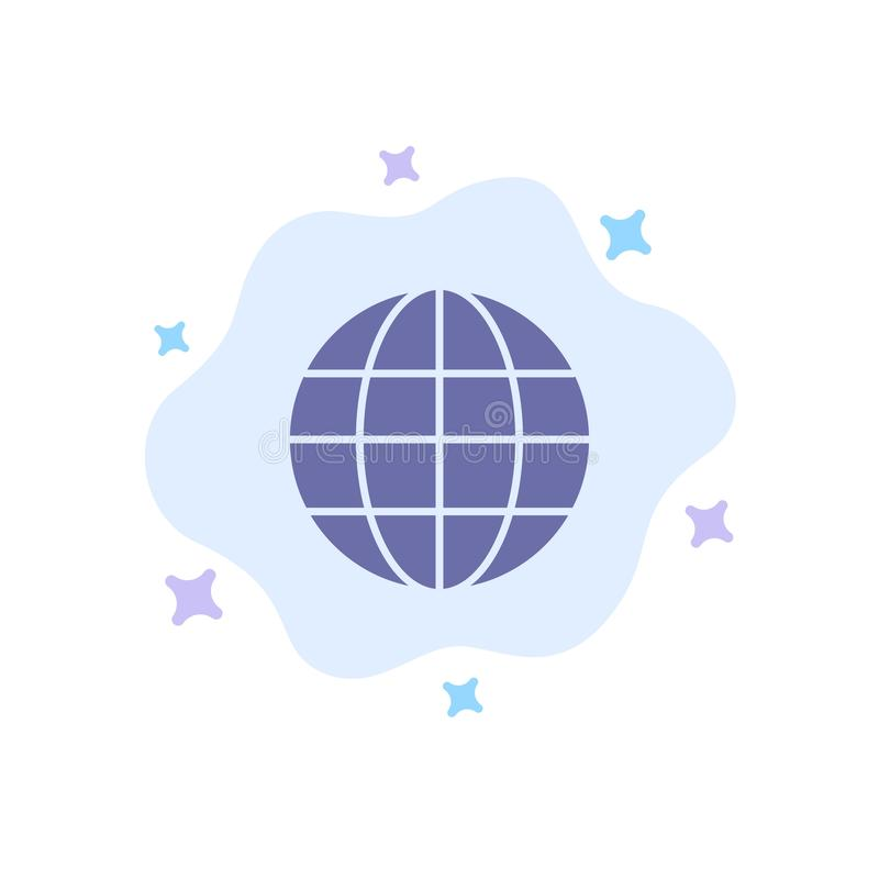 World, Globe, Map, Internet Blue Icon on Abstract Cloud Background vector illustration