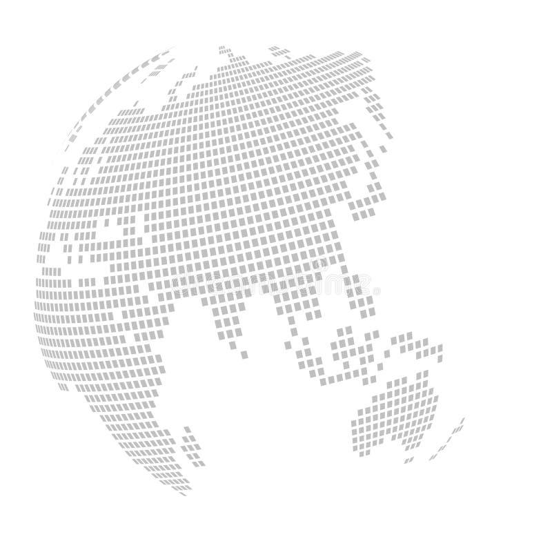 World globe map: square - puzzle stock photography