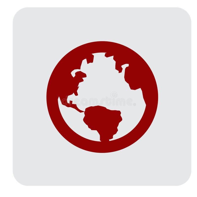 World Globe Simpel Logo Icon Vector Ilustration royalty free illustration