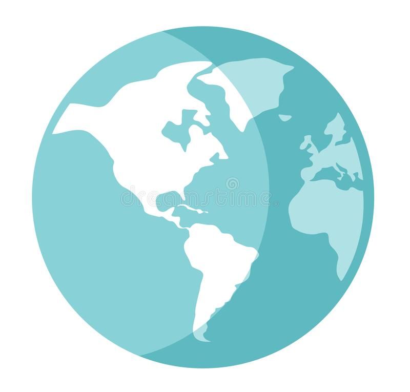 World globe vector cartoon illustration. royalty free illustration