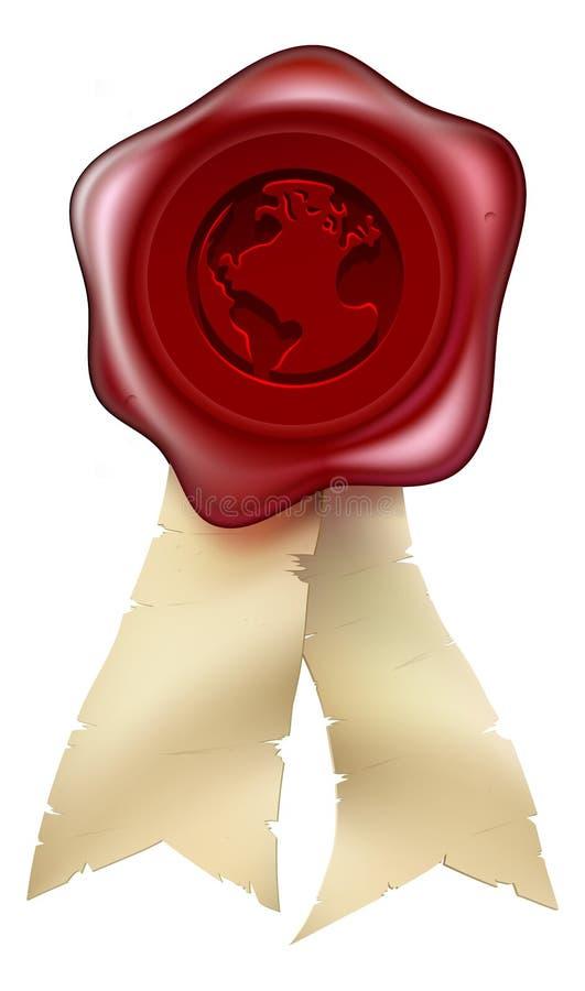 World Globe Wax Seal Stock Images