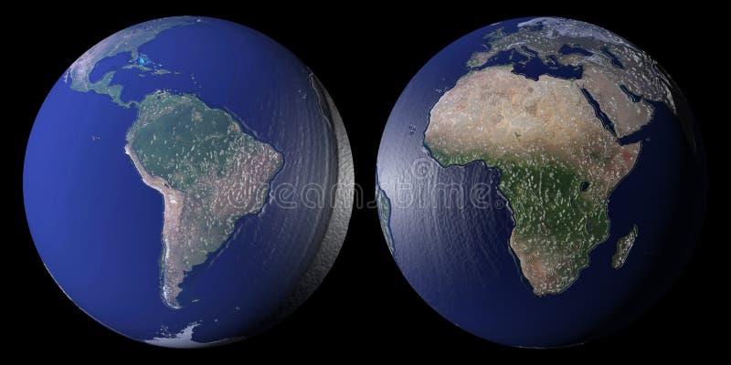 World globes stock illustration