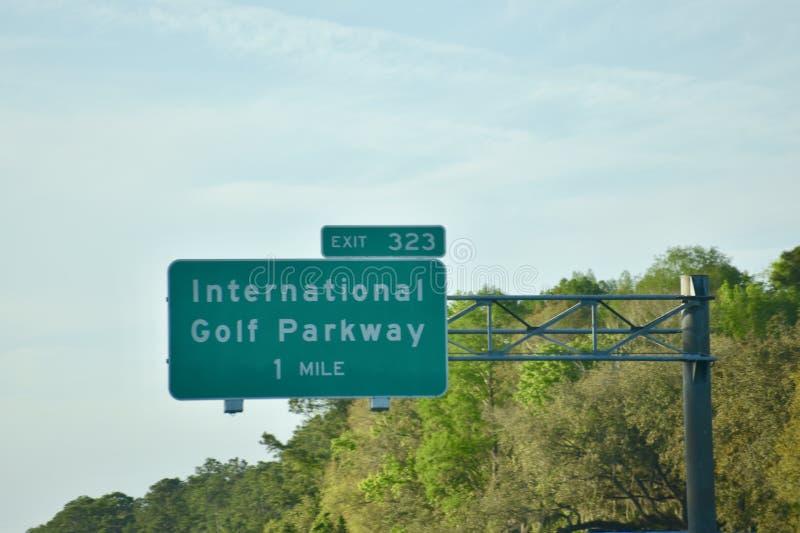 International Golf Parkway, St. Augustine, Florida stock image