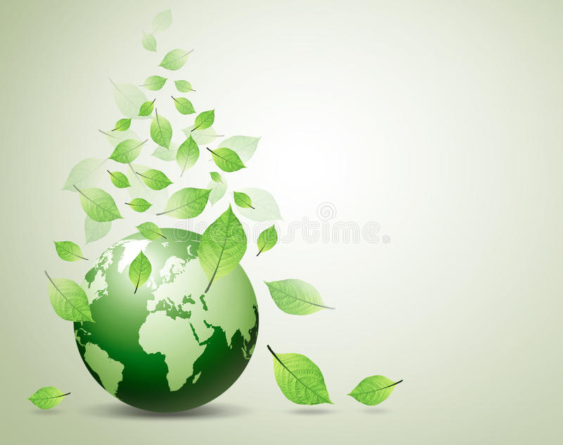 Download World and green leaves stock illustration. Image of around - 21899669