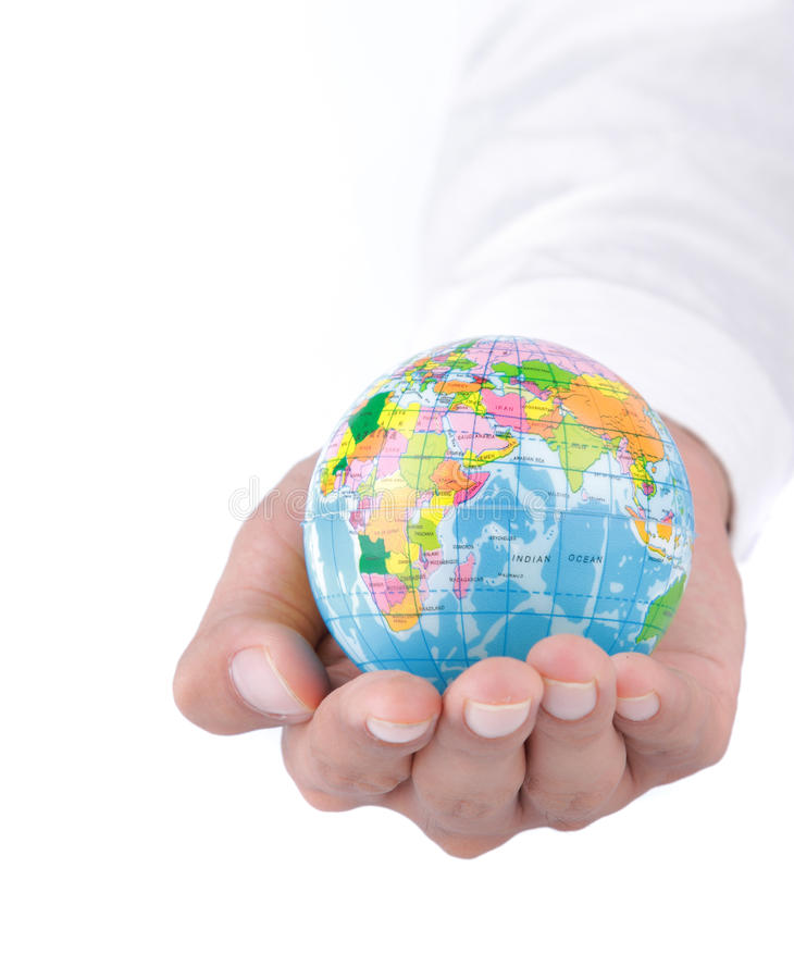 World in hand concept royalty free stock images