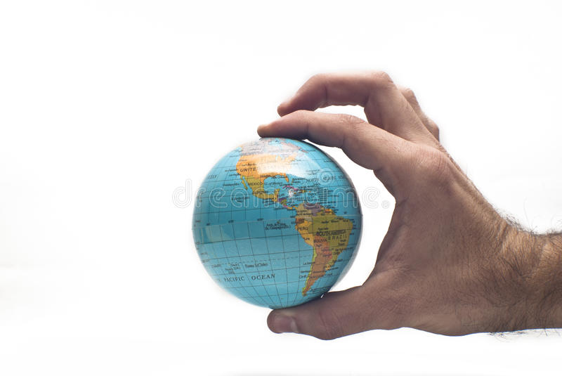Download World in hand isolated stock image. Image of america - 29331939