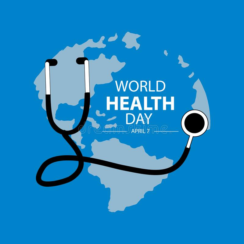 World health day concept. Blue background vector illustration