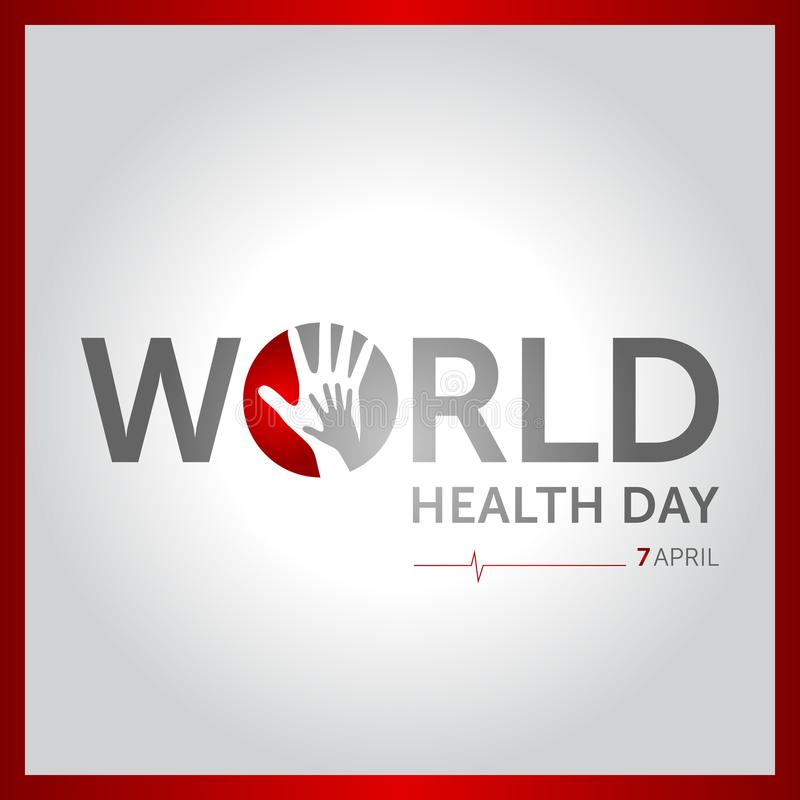 7 april world health day concept design vector illustration royalty free illustration