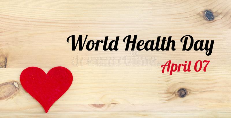 World Health Day Concept with Red Heart stock photos