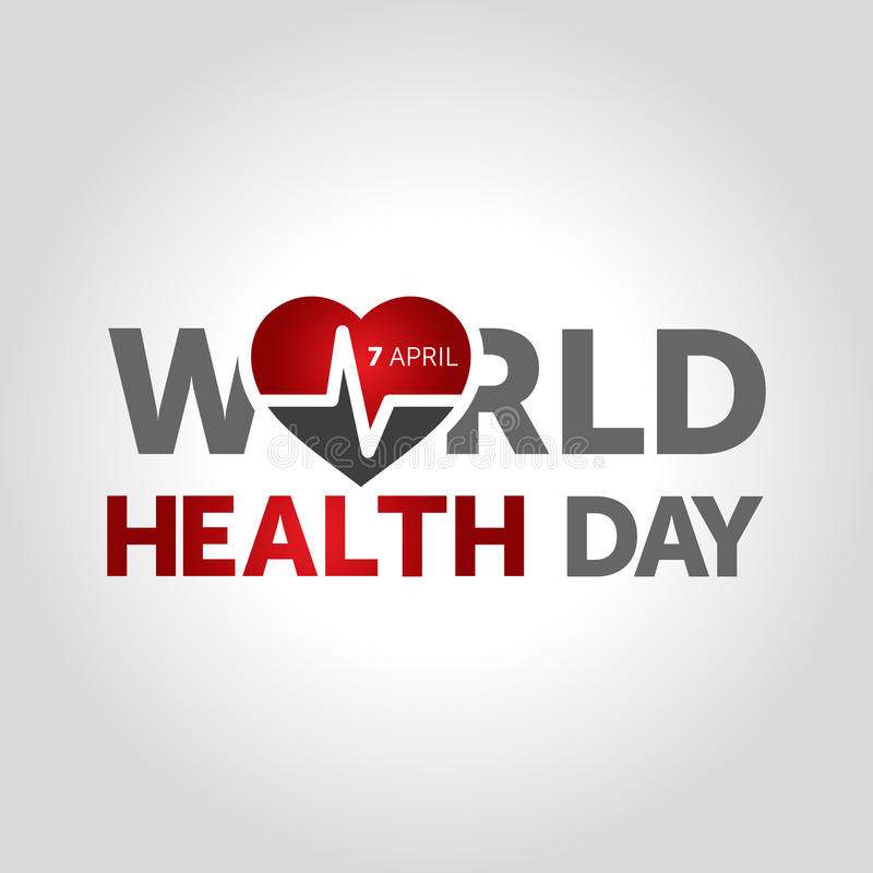 7 april world health day concept design vector illustration stock illustration