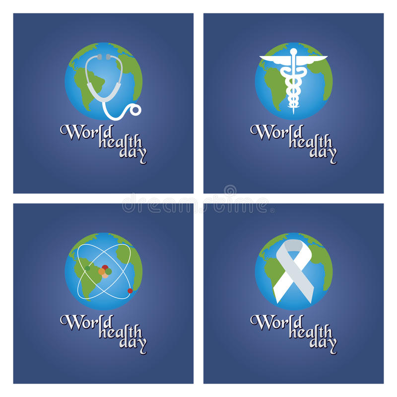 World health day stock illustration