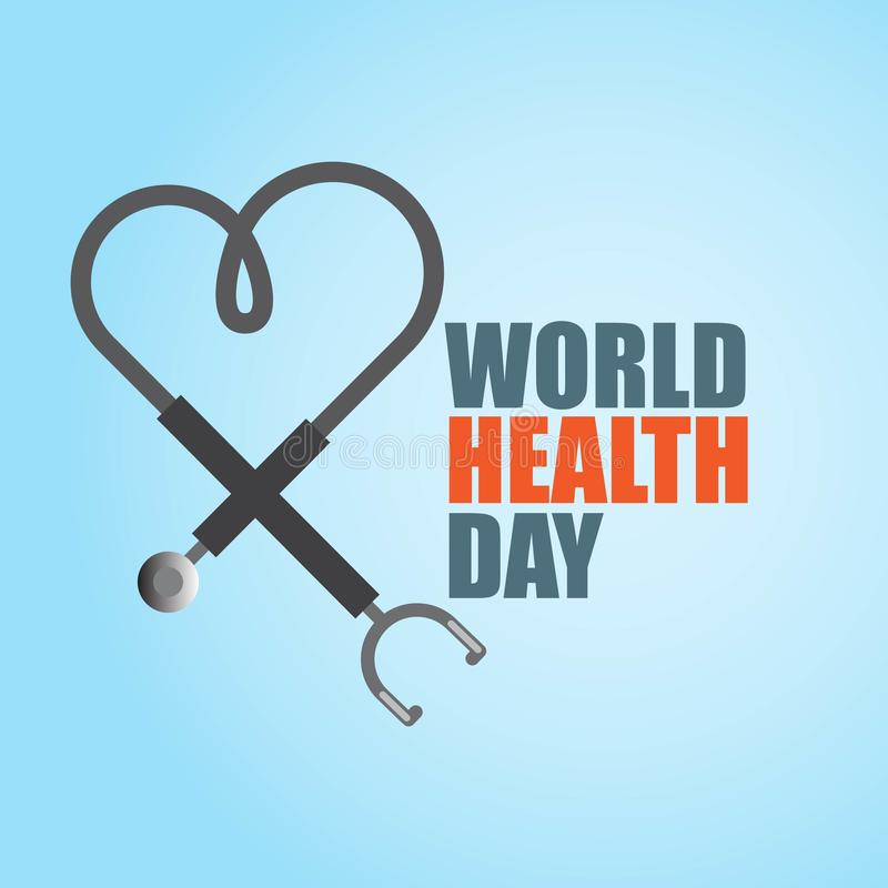 World Health Day Vector Template Design Illustration. Stethoscope background heart healthcare medicine april healthy symbol medical wellness science treatment vector illustration