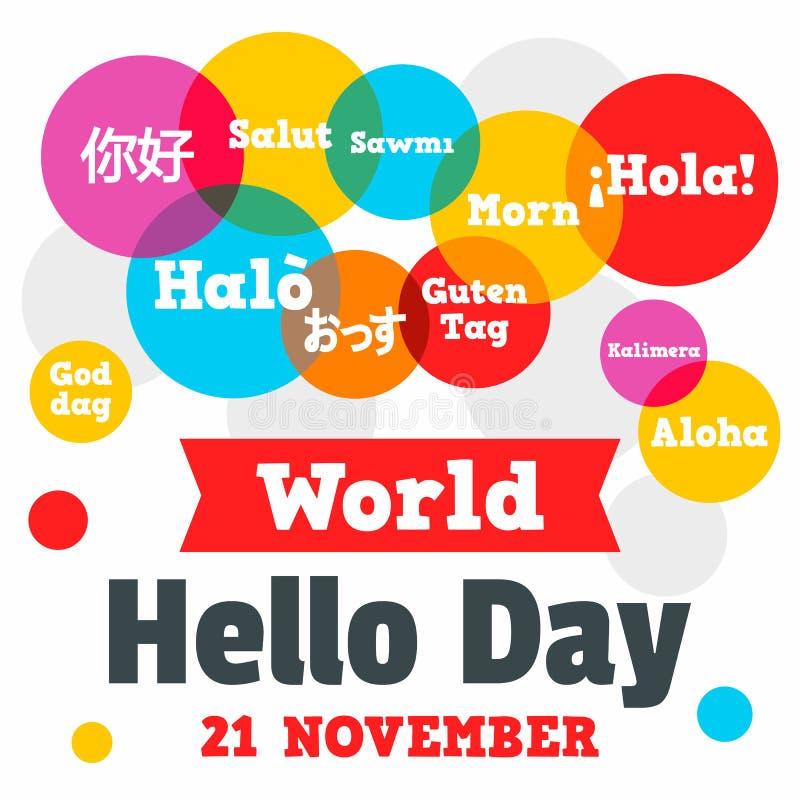 Helloworld Australia: World Hello Day Stock Illustration. Illustration Of