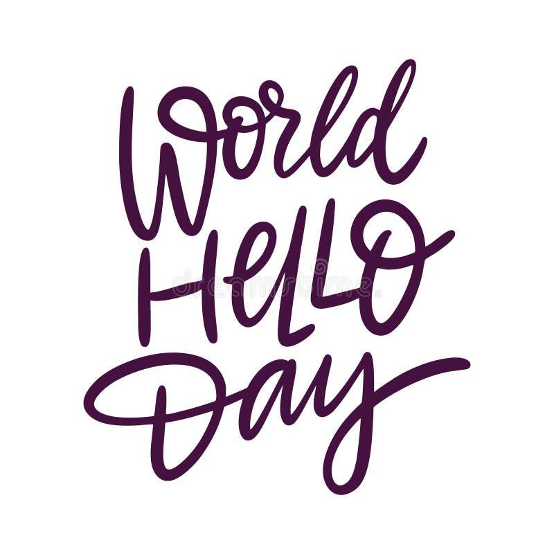 World Hello Day: World Hello Day Stock Illustration. Illustration Of Rubber