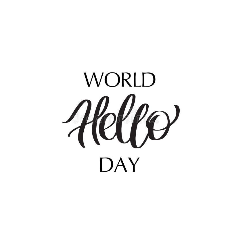World Hello Day: World Hello Day Stock Illustration. Illustration Of