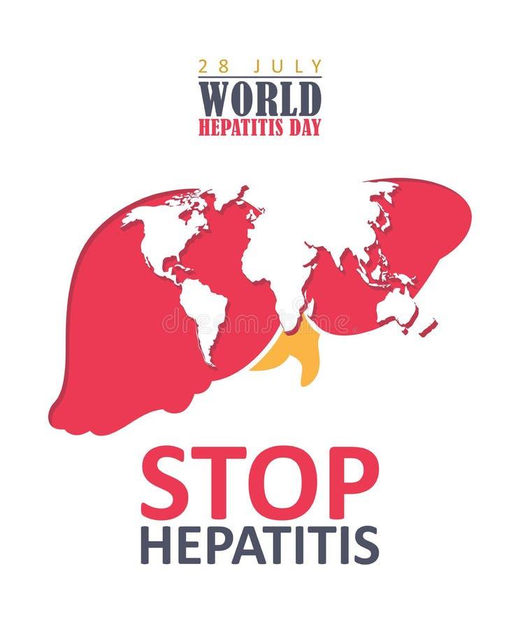 World hepatitis day vector flyer in modern flat design on white background. 28 July vector illustration