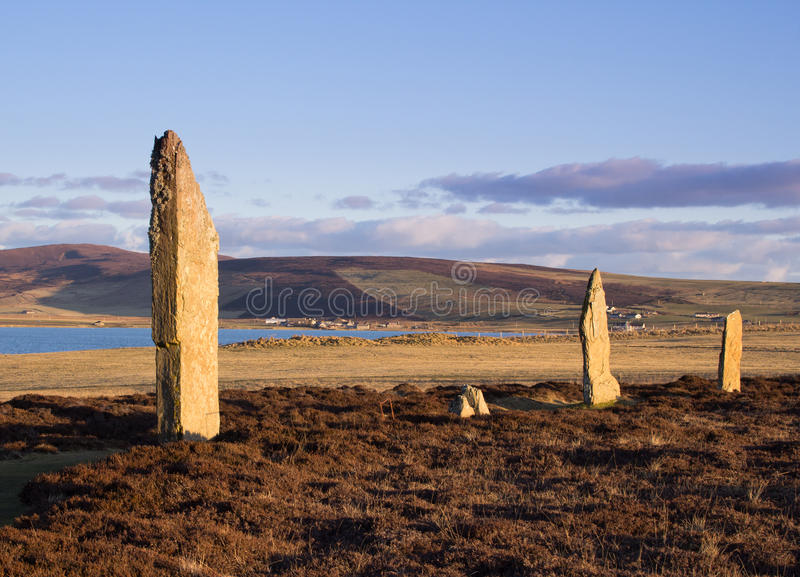 World Heritage Site Standing Stones royalty free stock image