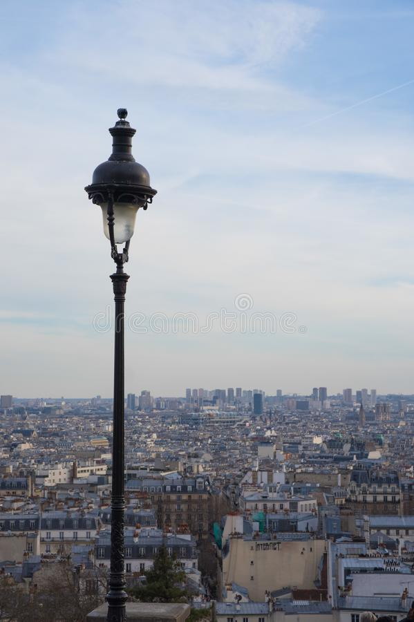 World heritage view over paris famous blue rooftops royalty free stock photos