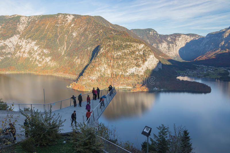 World Heritage View viewing platform, Hallstatt, Austria royalty free stock image