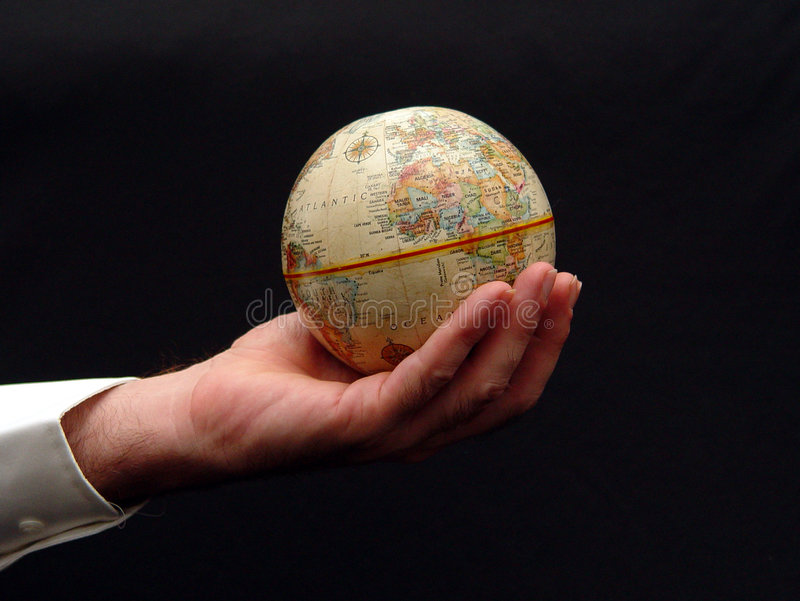 World in His Hands stock photos