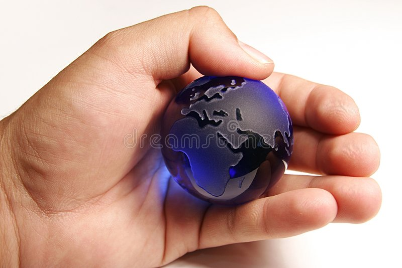 The world in his hands royalty free stock photography