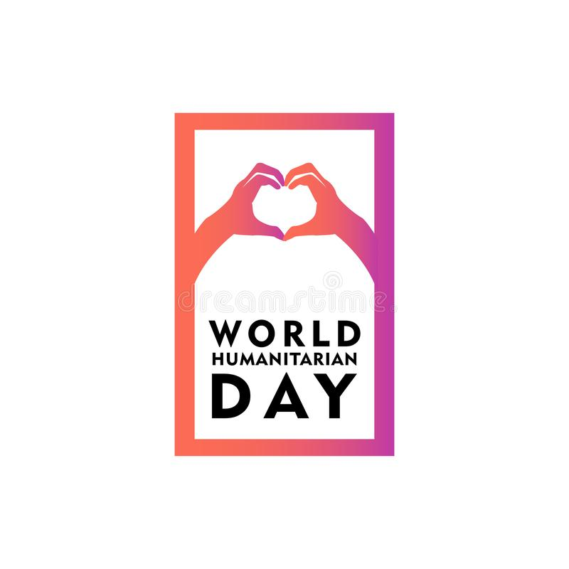 World Humanitarian Day Celebration Vector Template Design Illustration. International, background, symbol, holiday, august, isolated, card, icon, decoration vector illustration