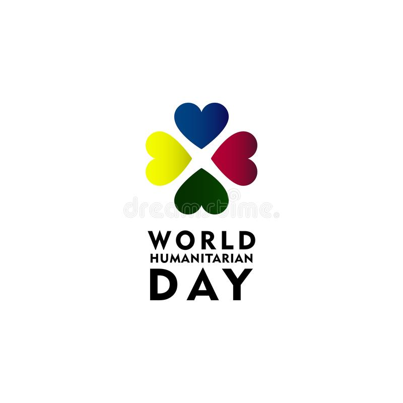 World Humanitarian Day Celebration Vector Template Design Illustration. International, background, symbol, holiday, august, isolated, card, icon, decoration royalty free illustration
