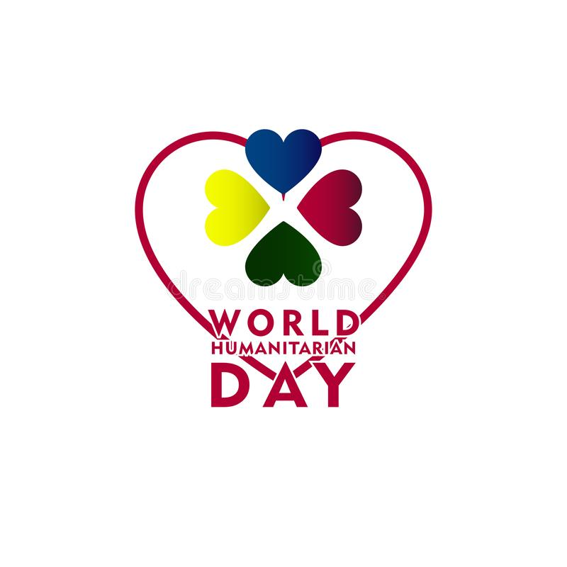 World Humanitarian Day Celebration Vector Template Design Illustration. International, background, symbol, holiday, august, isolated, card, icon, decoration stock illustration