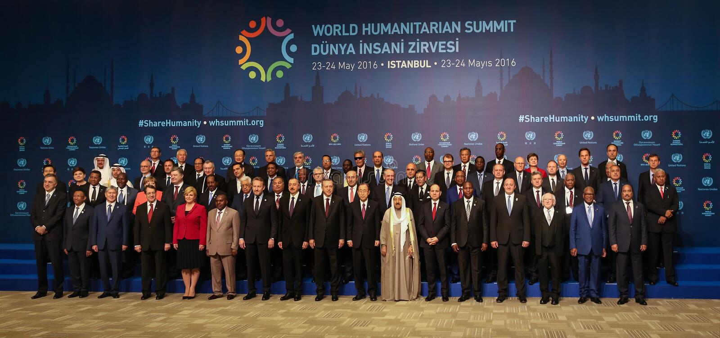 World Humanitarian Summit, Istanbul, Turkey, 2016. ISTANBUL, TURKEY - May 23, 2016: Group photo of the participants of the World Humanitarian Summit of the stock image