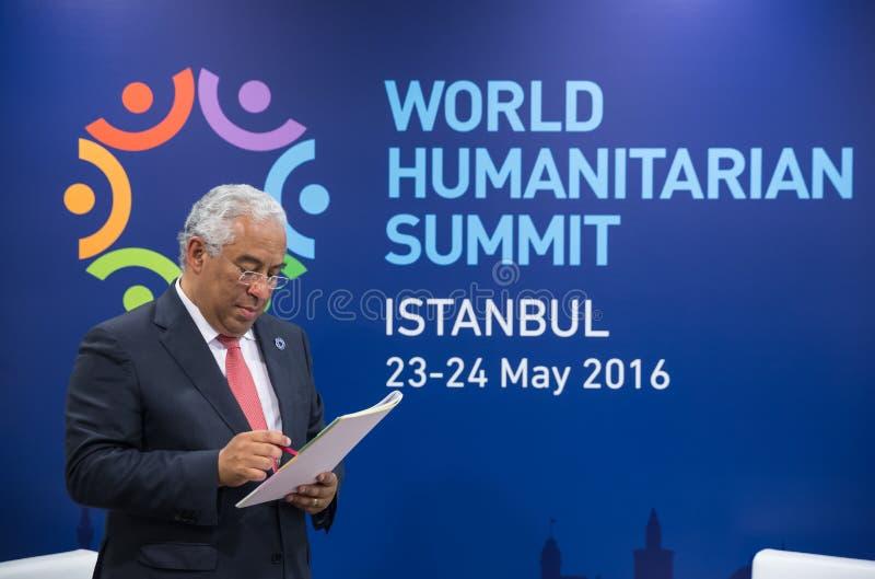 World Humanitarian Summit, Istanbul, Turkey, 2016. ISTANBUL, TURKEY - May 23, 2016: Portuguese Prime Minister Antonio Costa during World Humanitarian summit in royalty free stock image