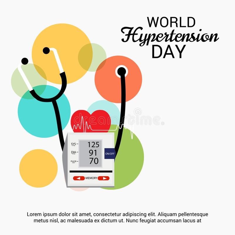 World Hypertension Day. Illustration of a Background For World Hypertension Day royalty free illustration