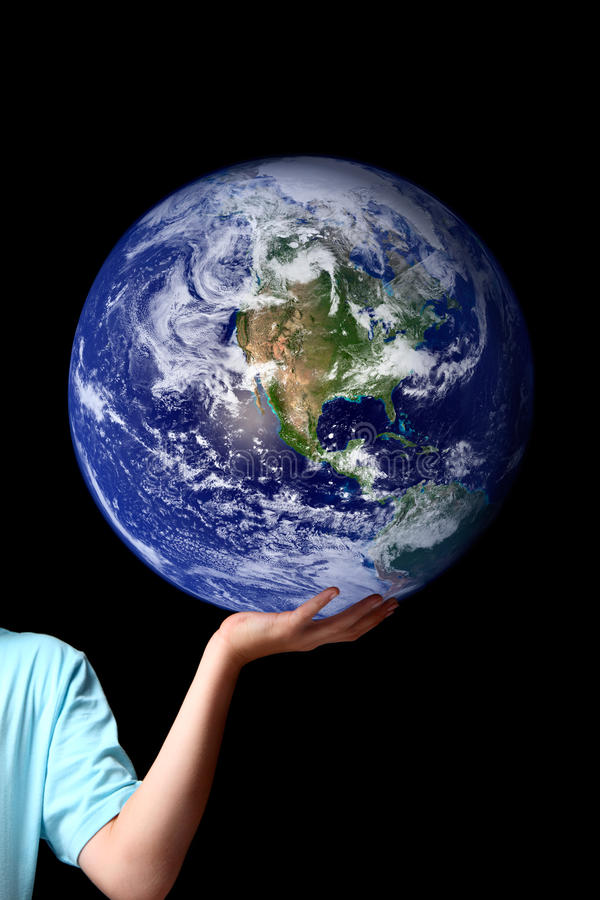 Free World In The Palm Of Your Hands - Planet Earth Royalty Free Stock Photo - 12313915
