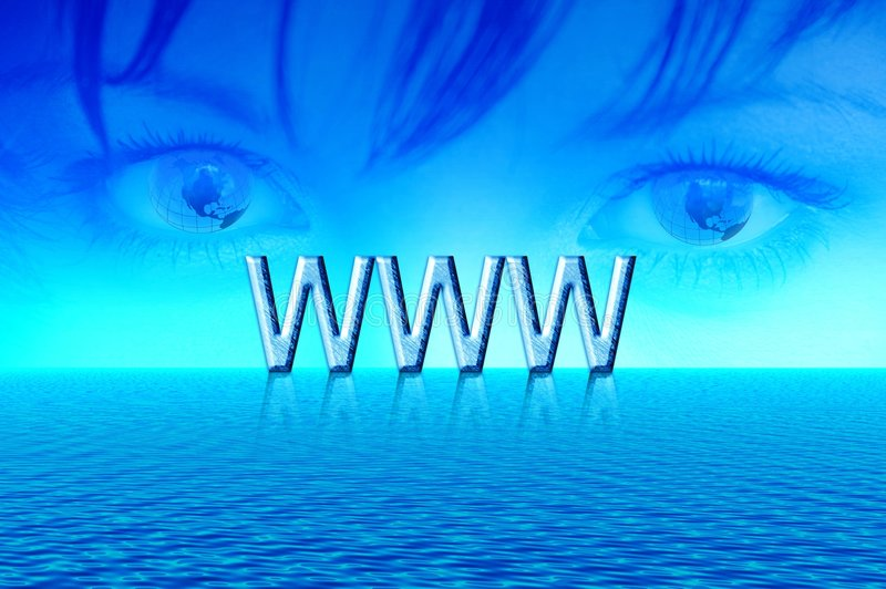 World internet vector illustration